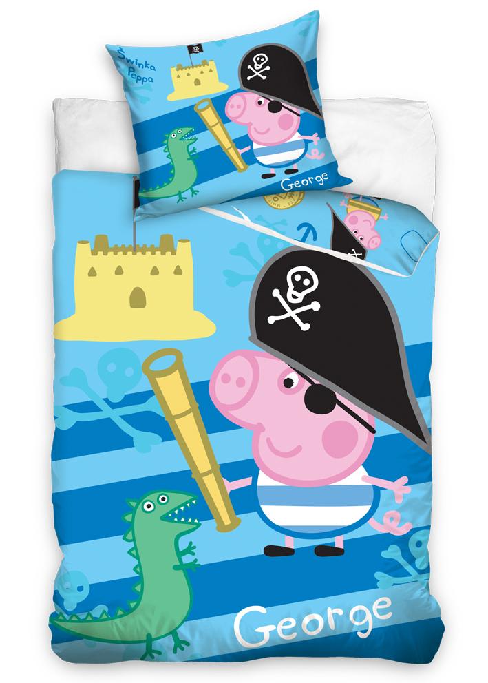 Povlečení Peppa Pig - George pirát