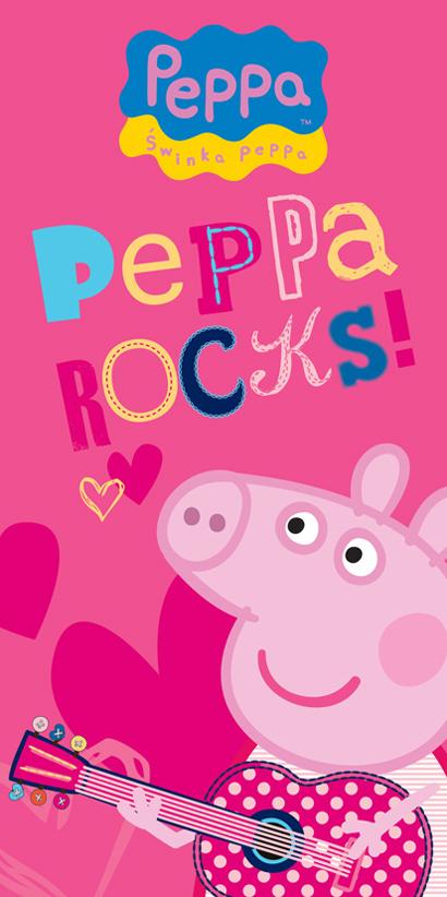 Dětská osuška Prasátko Pepina Rock