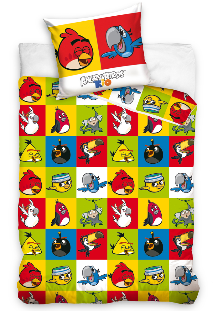 Povlečení Angry Birds Šachovnice