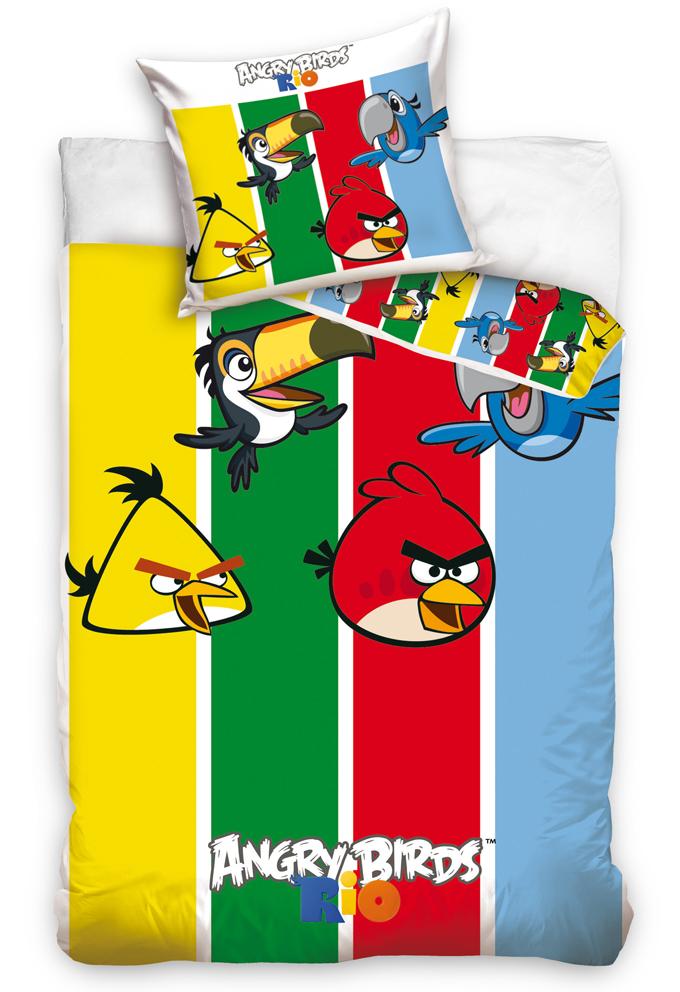 Povlečení Angry Birds Stripes