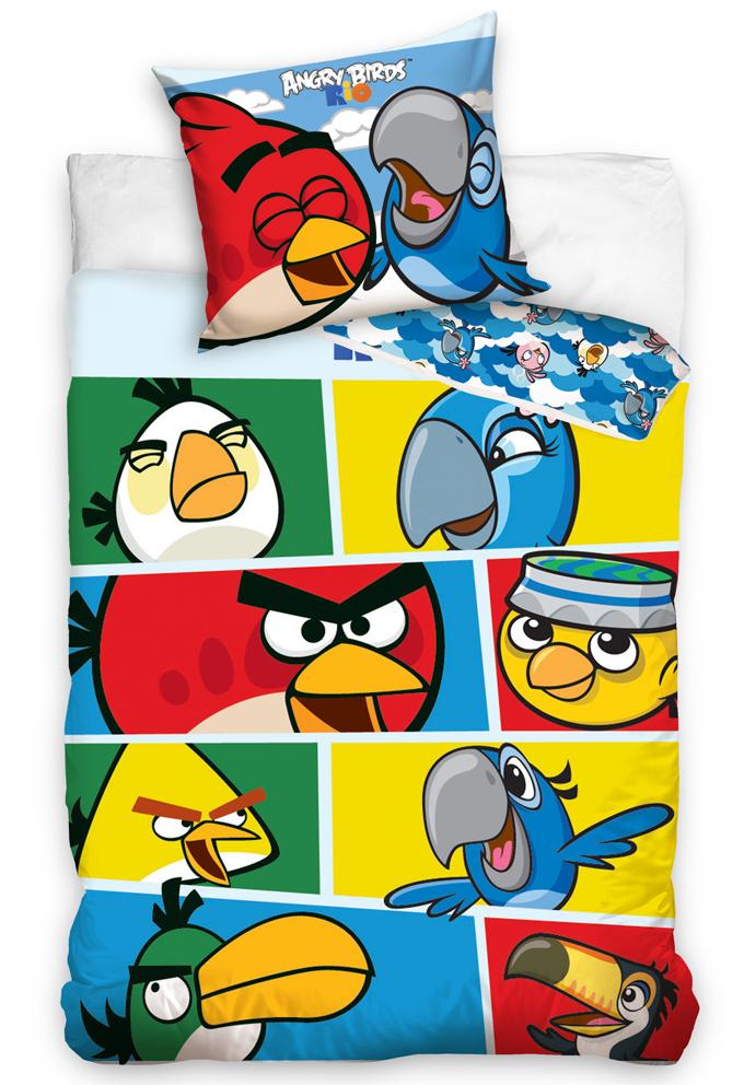 Povlečení Angry Birds Check Blue