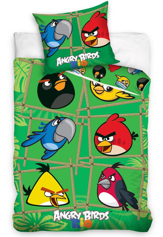 Povlečení Angry Birds Green