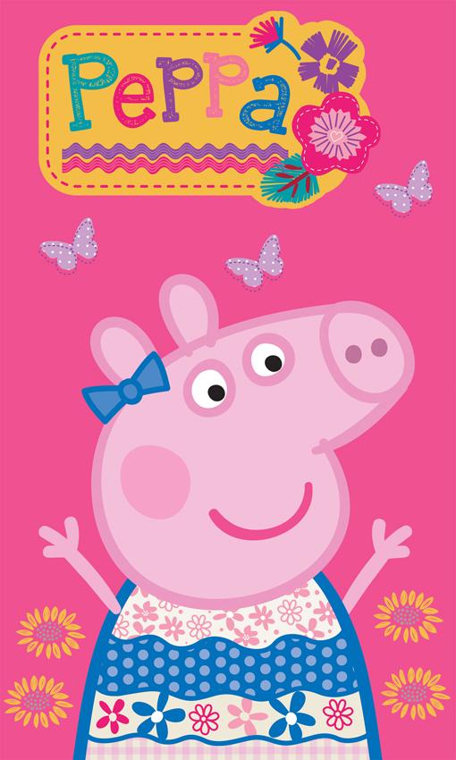 Dětský ručník Prasátko Pepina Pink - 30x50 cm