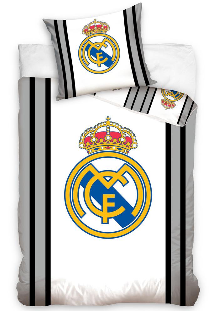 Povlečení Real Madrid Grey Stripes