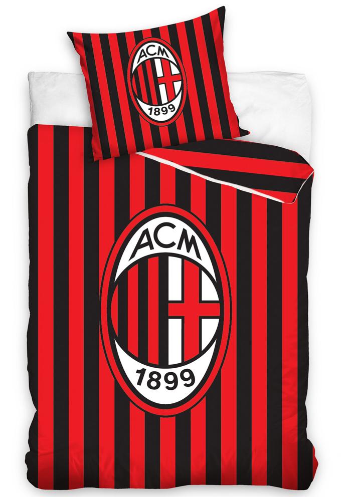 Image of Fotbalové povlečení AC Milán Stripes