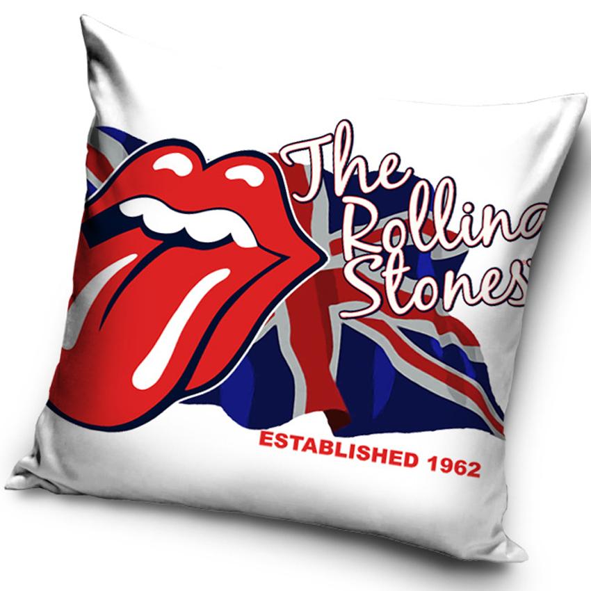 Plyšový polštářek Rolling Stones Flag
