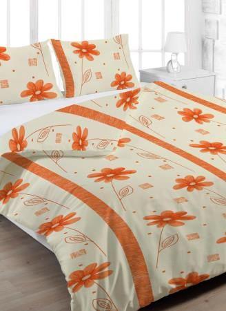 Krepový povlak na polštář Anežka - Oranžové Rozměr: 70x90 cm
