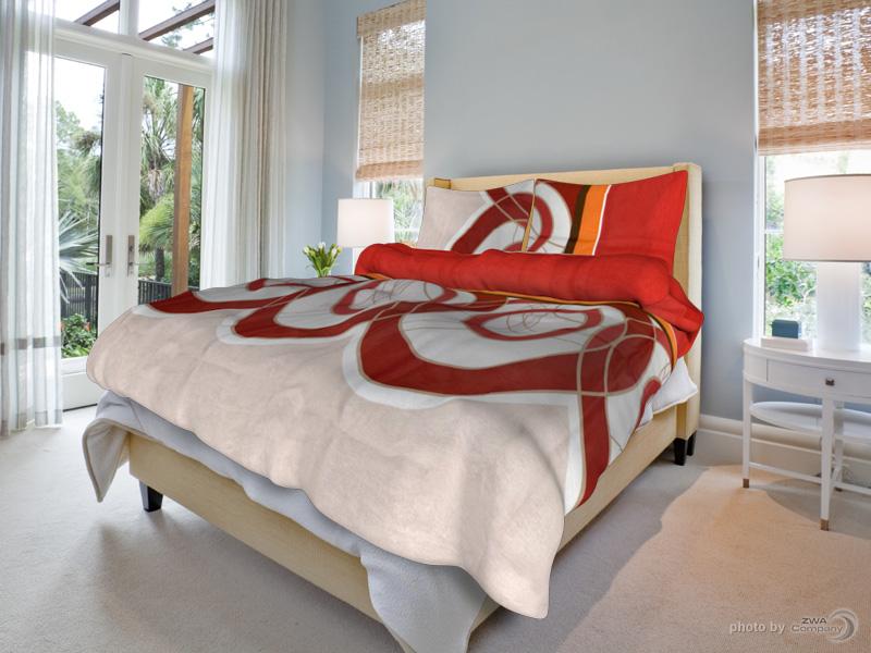 Bavlněný povlak na polštář Bára - Červené Rozměr: 70x90 cm