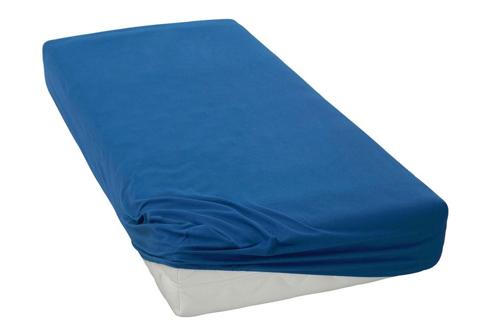Jersey prostěradlo Tmavě modré BedTex Rozměr: 70x140 cm