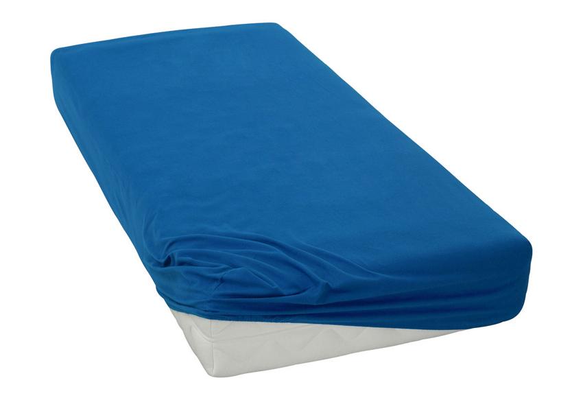 Jersey prostěradlo tmavě modré Rozměr: 200x220 cm