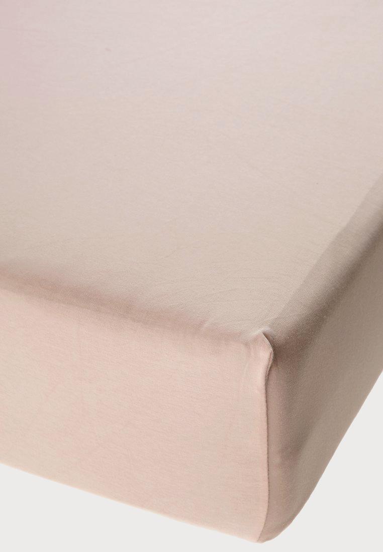 Jersey prostěradlo s elastanem béžové Rozměr: 200x220 cm