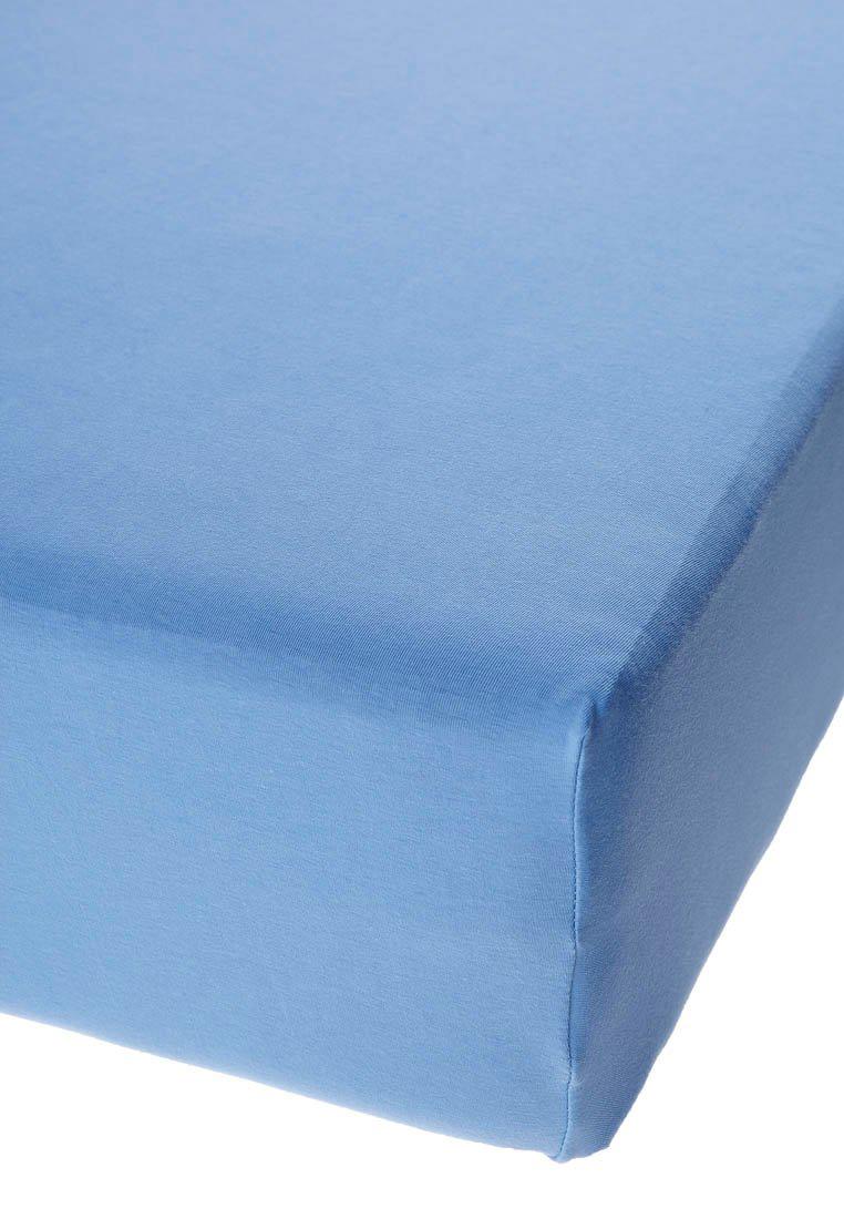 Jersey prostěradlo s elastanem středně modré Rozměr: 200x220 cm