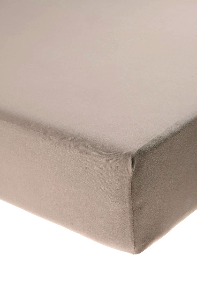Jersey prostěradlo s elastanem světle hnědé Rozměr: 200x220 cm