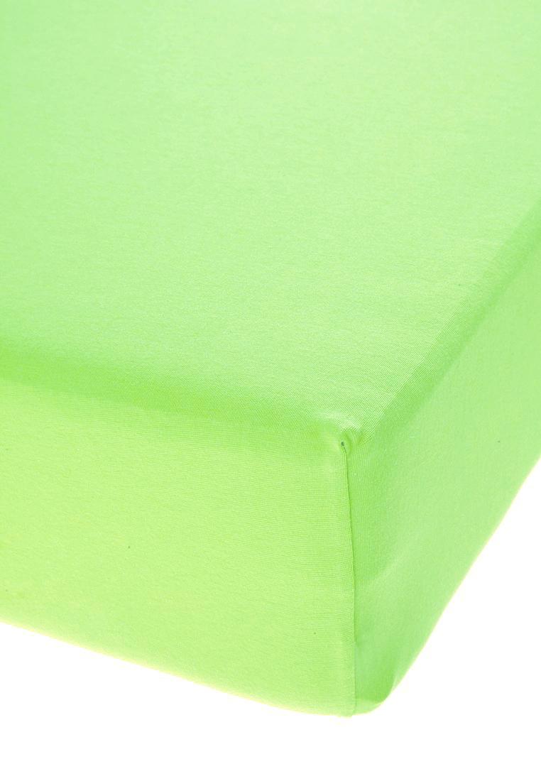 Jersey prostěradlo s elastanem světle zelené Rozměr: 200x220 cm
