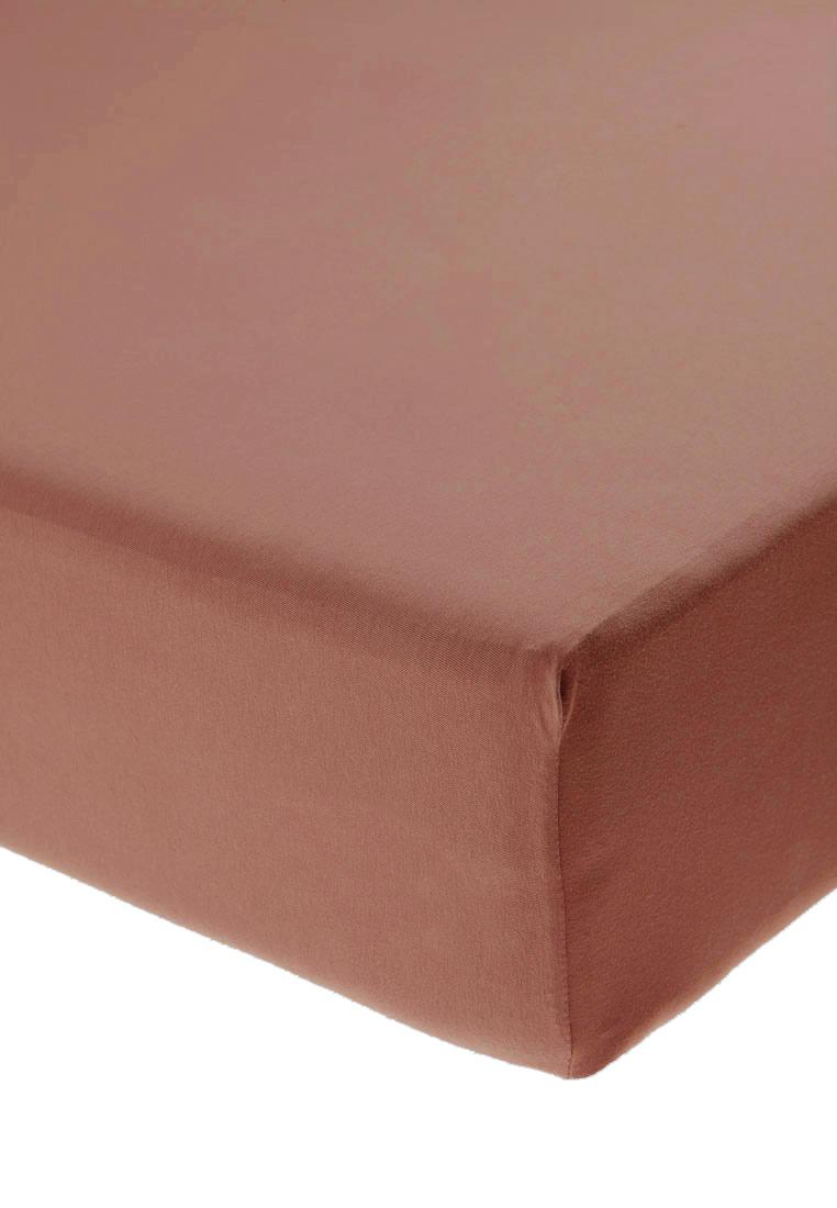 Jersey prostěradlo s elastanem oříškové Rozměr: 200x220 cm