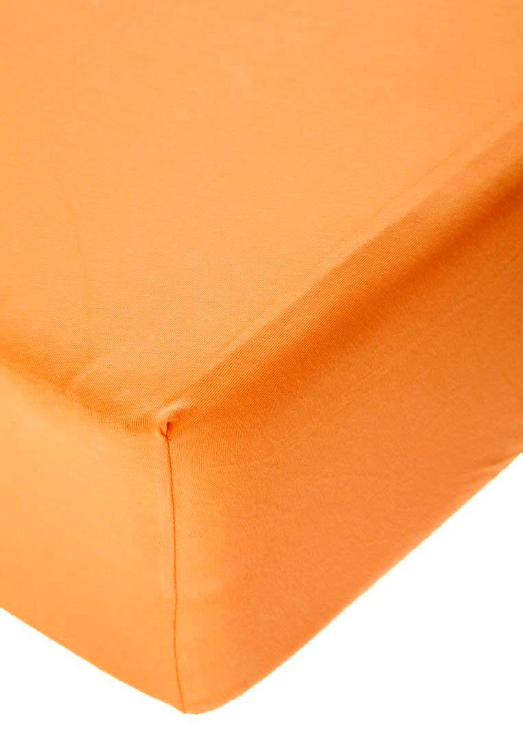 Jersey prostěradlo s elastanem pomerančové Rozměr: 200x220 cm