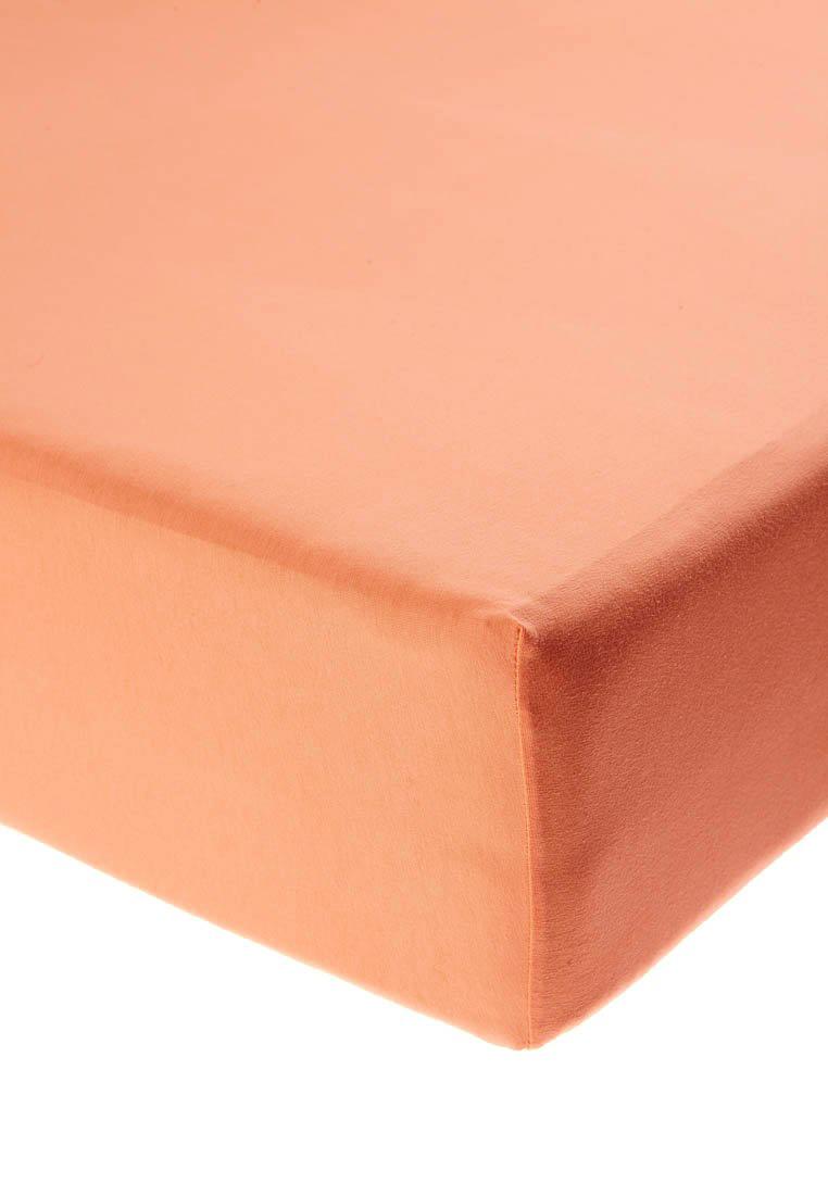 Jersey prostěradlo s elastanem meruňkové Rozměr: 200x220 cm