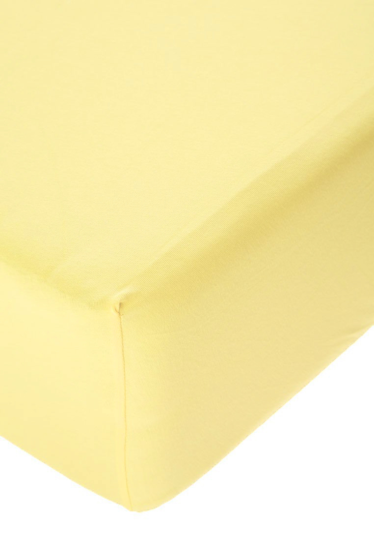 Jersey prostěradlo s elastanem vanilkové Rozměr: 200x220 cm