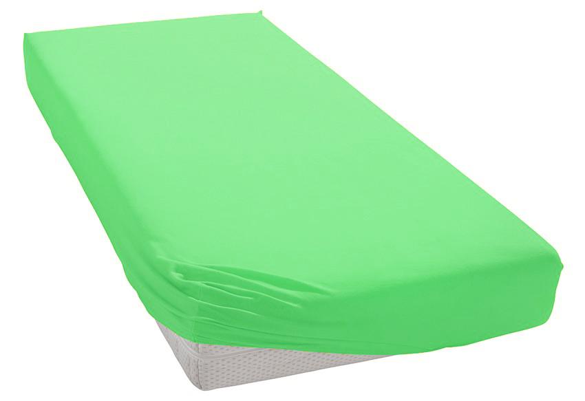 Jersey prostěradlo ostře zelené Rozměr: 200x220 cm