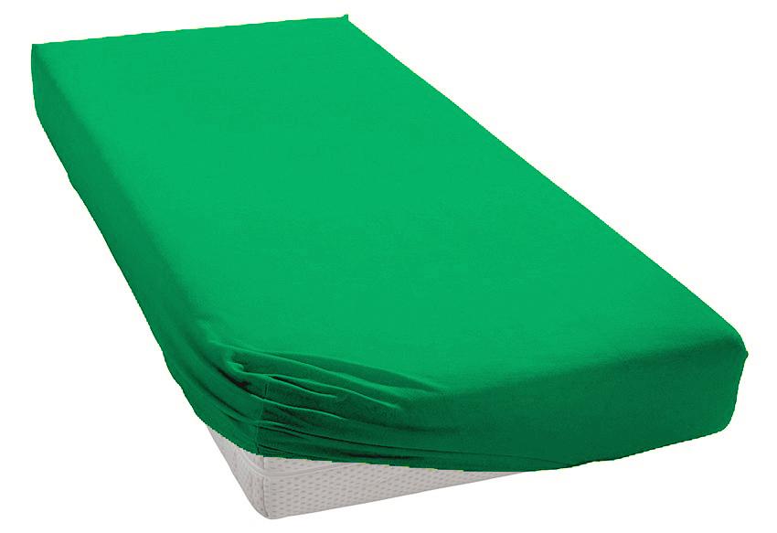 Jersey prostěradlo zelené Rozměr: 200x220 cm