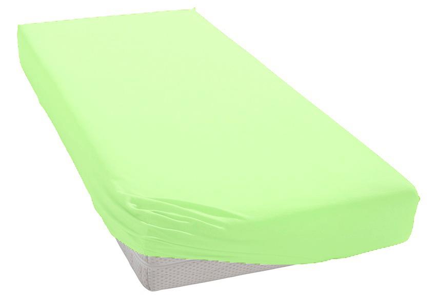 Jersey prostěradlo světle zelené Rozměr: 200x220 cm