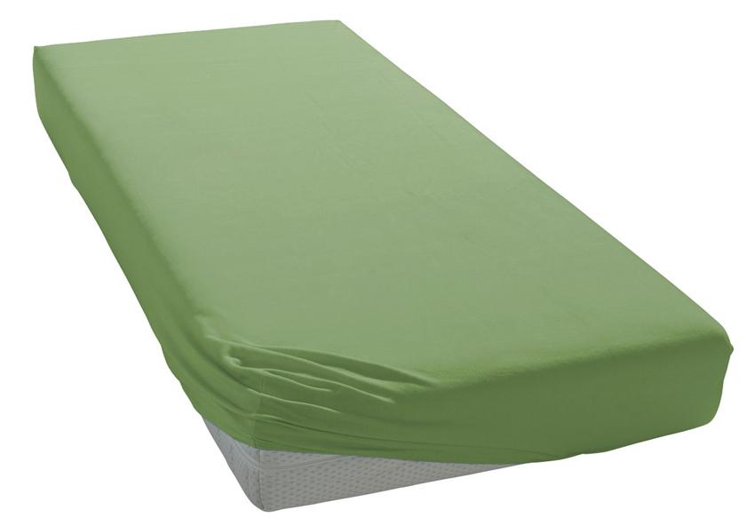 Jersey prostěradlo středně zelené Rozměr: 200x220 cm