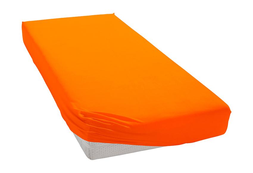 Jersey prostěradlo oranžové Rozměr: 200x220 cm