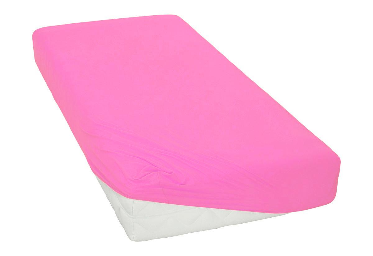 Jersey prostěradlo tmavě růžové Rozměr: 200x220 cm
