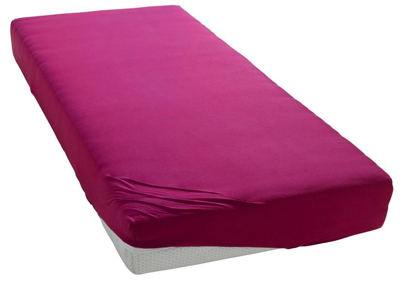 Jersey prostěradlo sytě růžové Rozměr: 200x220 cm
