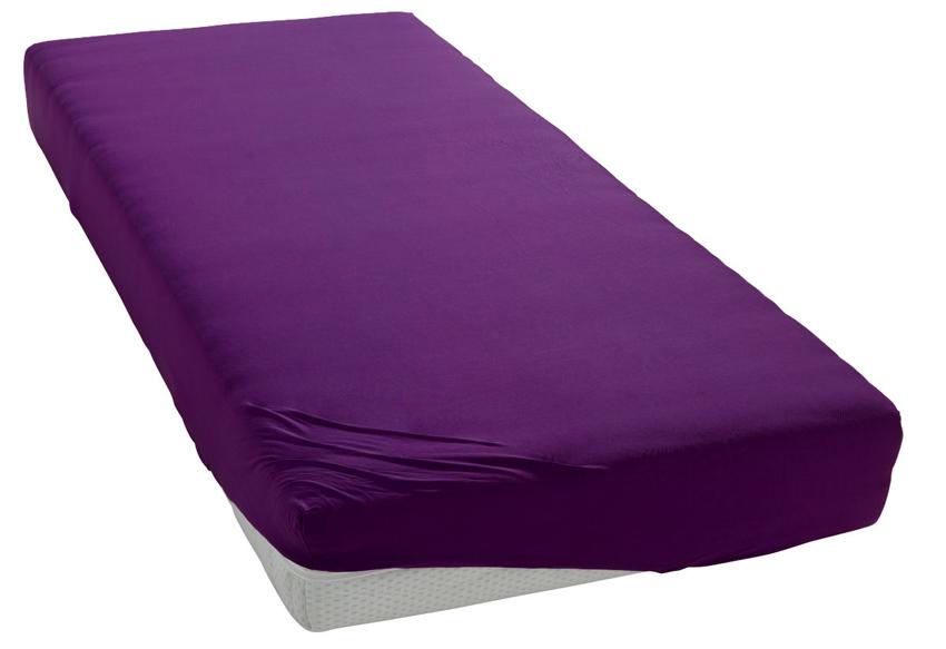 Jersey prostěradlo fialové Rozměr: 200x220 cm