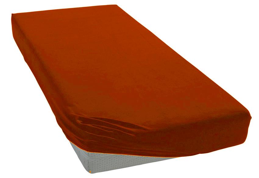 Jersey prostěradlo rezavé Rozměr: 200x220 cm