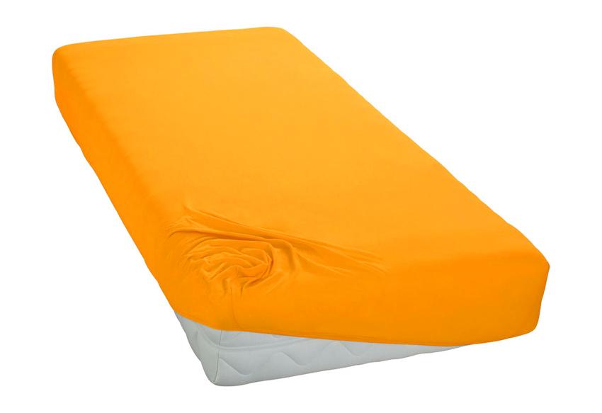 Jersey prostěradlo sytě žluté Rozměr: 200x220 cm