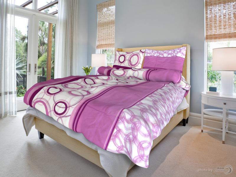 Bavlněný povlak na polštář Marta - Růžové Rozměr: 70x90 cm