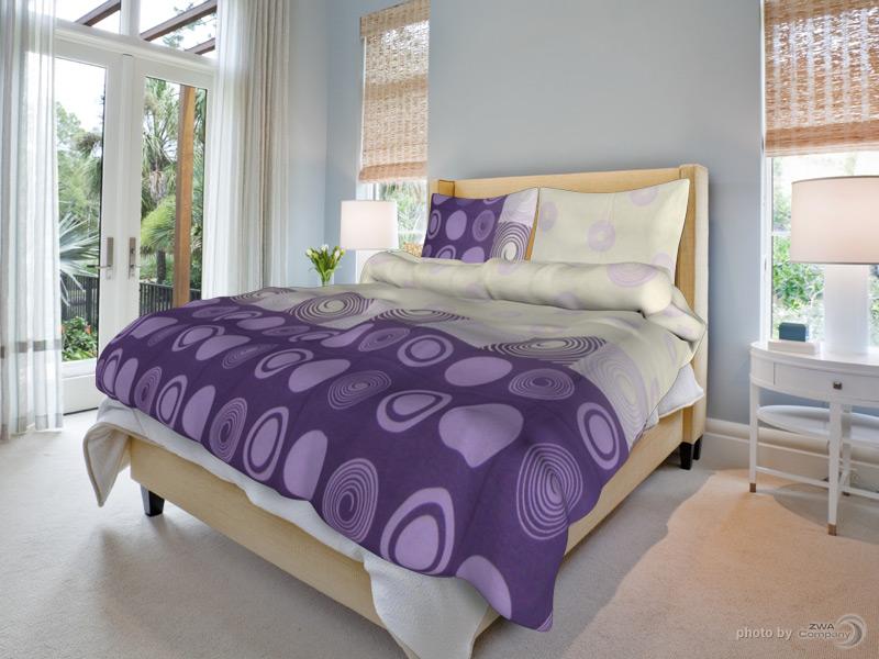 Bavlněný povlak na polštář Silvie - Fialkové Rozměr: 70x90 cm