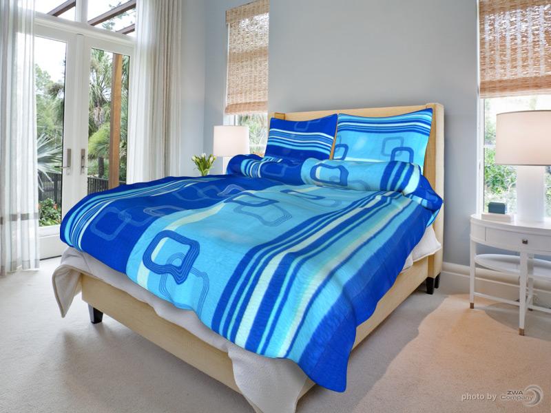 Krepový povlak na polštář Tamara - Modré Rozměr: 70x90 cm