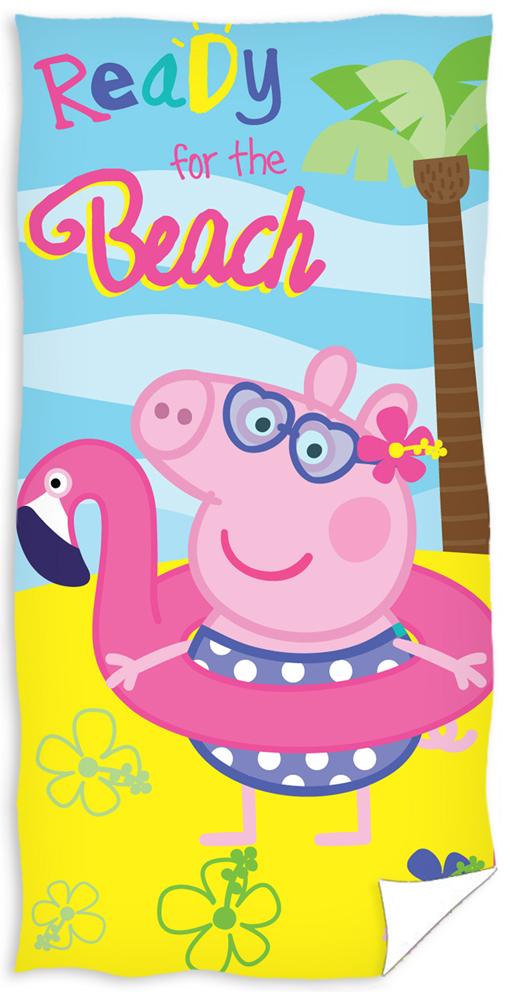 Dětská osuška Prasátko Pepina Na pláži