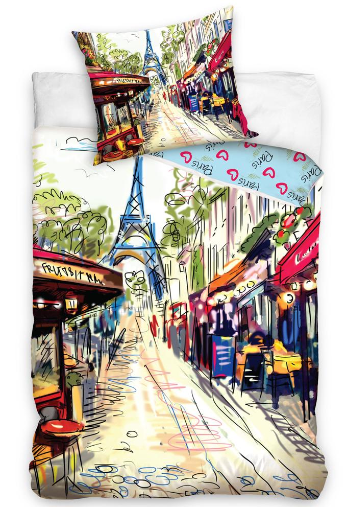 Povlečení Paříž - Paris Café Rue