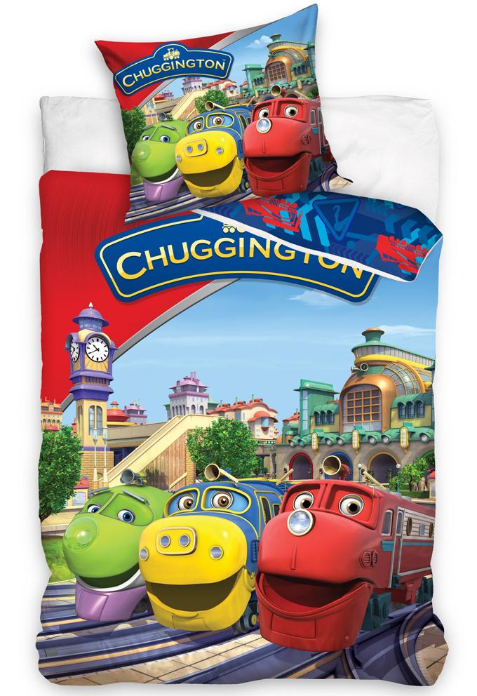 Povlečení Chuggington - Veselé vláčky červené