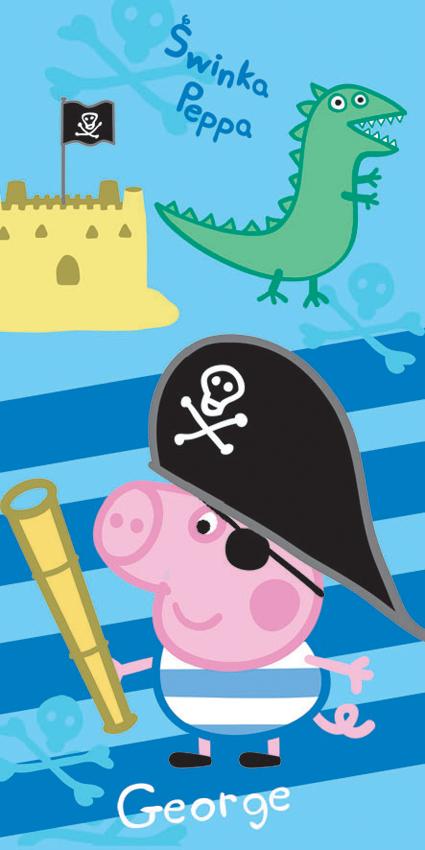 Dětská osuška Prasátko Peppa George Pirát