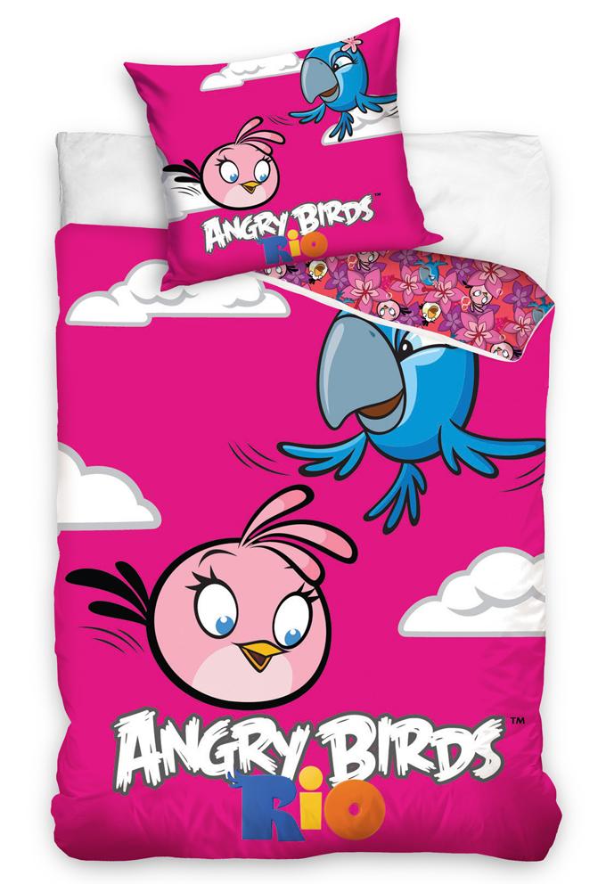 Povlečení Angry Birds Pink Bird