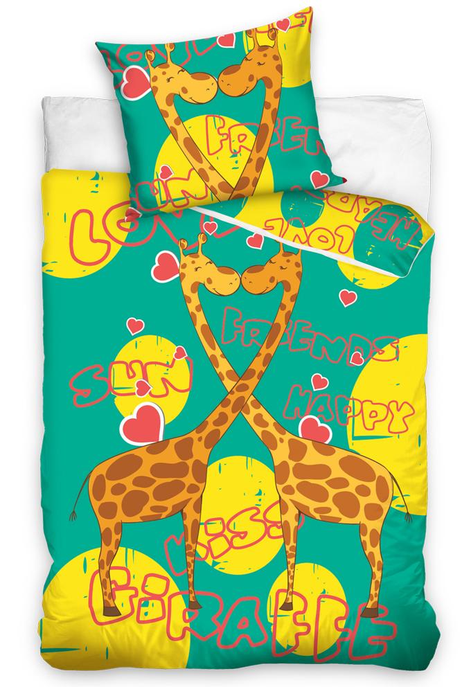Dětské povlečení Žirafy - Zelené