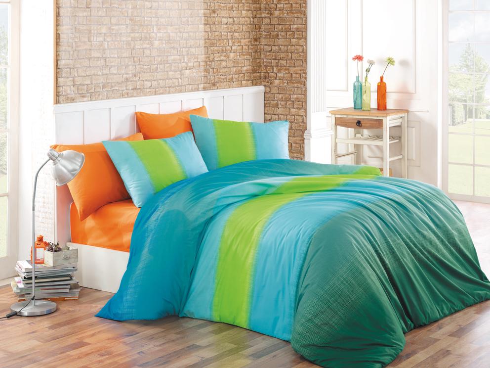 Bavlněné povlečení Colorful Modré Rozměr: 140x220 + 70x90