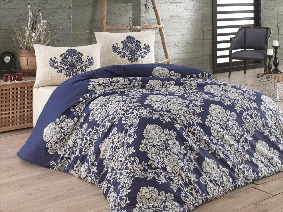 Bavlněné povlečení Estella Modré Rozměr: 140x200 + 70x90 + 50x70