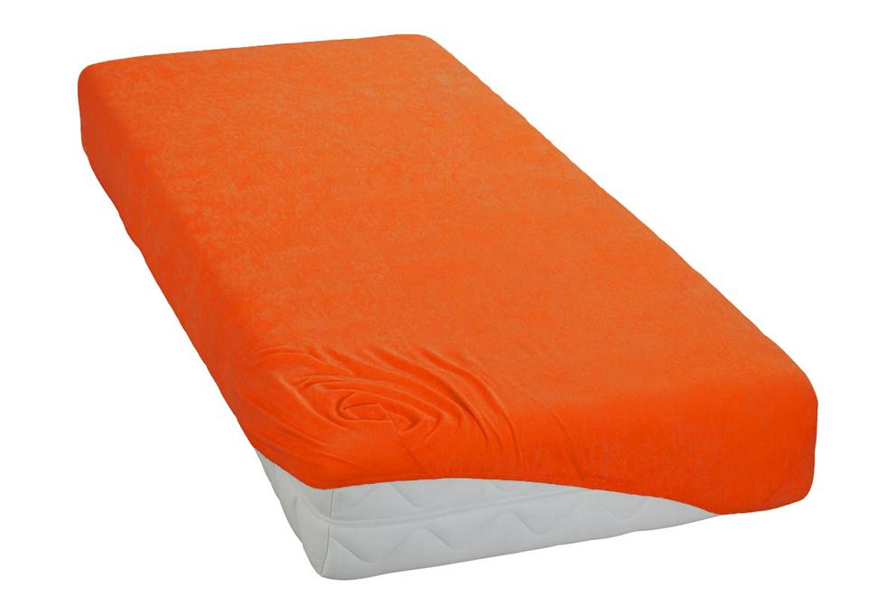 Froté prostěradlo Oranžové BedTex Rozměr: 90x200 cm