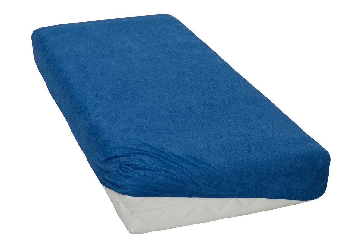 Froté prostěradlo Tmavě modré BedTex Rozměr: 180x200 cm