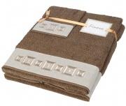 Dárkový set ručníků Cubos Brown