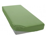 Jersey prostěradlo středně zelené