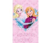 Dětský ručníček Ledové Království Sisters Forever 30x50 cm