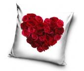 Dekorační polštářek Srdce z růží