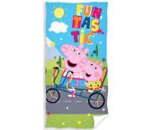 Dětská osuška Prasátko Peppa Výlet na kole